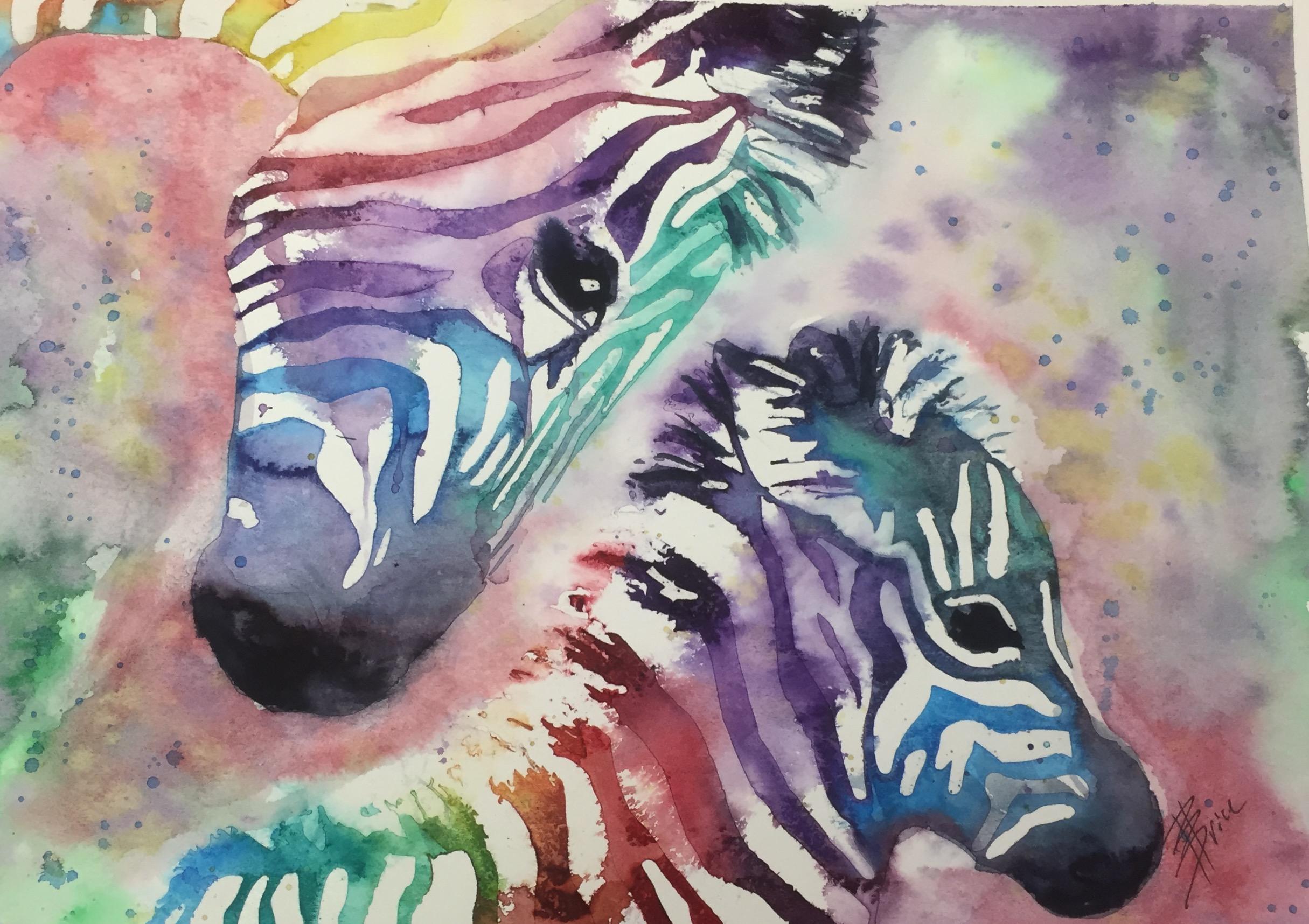 Zebra Mama & Baby