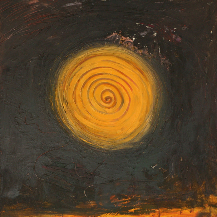 Orange Swirl, 2008, oil on canvas, 76 cm x 76 cm