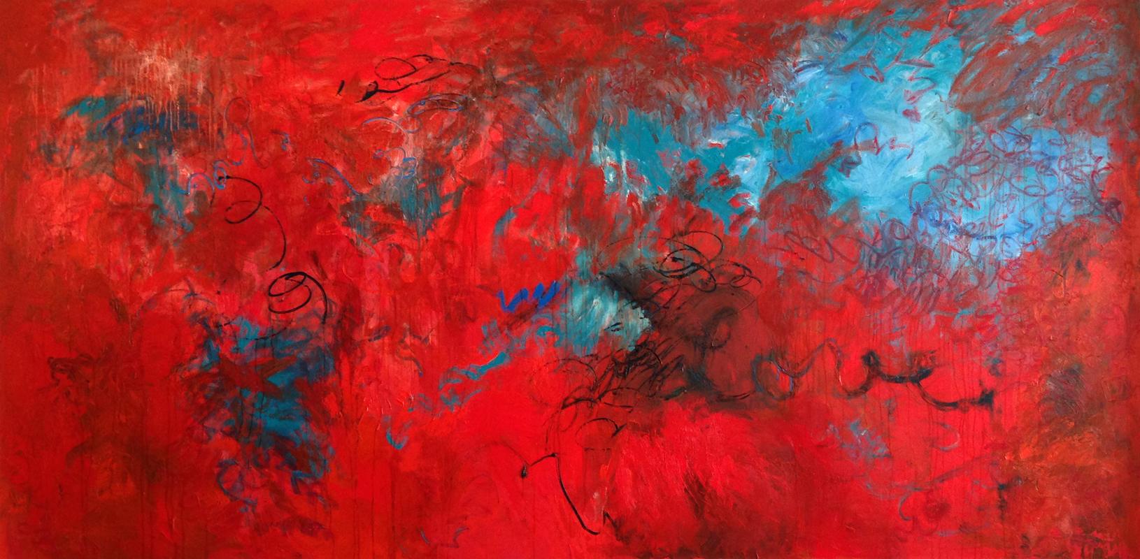 Love, 2009, oil on linen, 170 cm x 170 cm