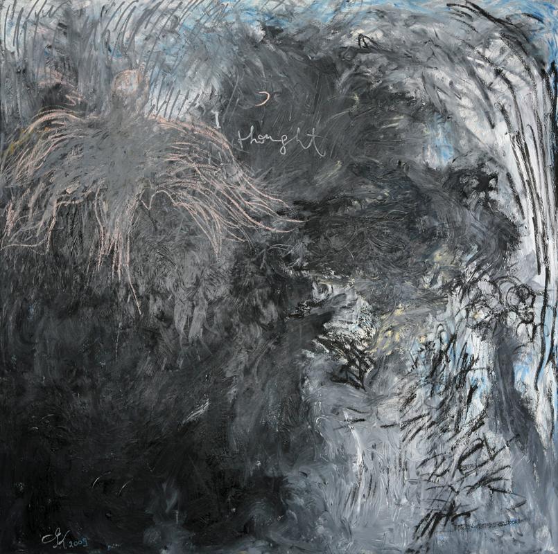 I Thought, 2009, oil on linen, 170 cm x 170 cm