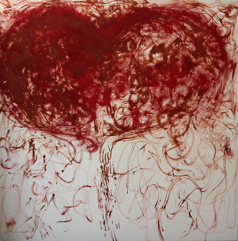 Heart and Hand. Premonition, 2013, 170 cm x 170 cm, oil on canvas