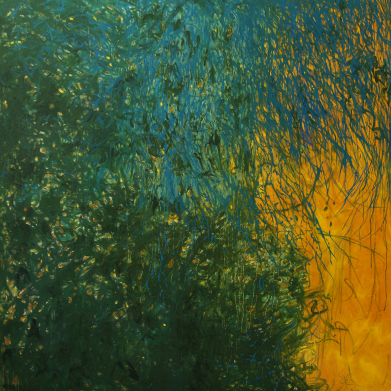Light Through Foliage, 2013, 170 cm x 170 cm, oil on linen