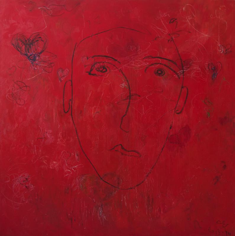 Don't worry, 2014, 170 cm x 170 cm, oil on linen