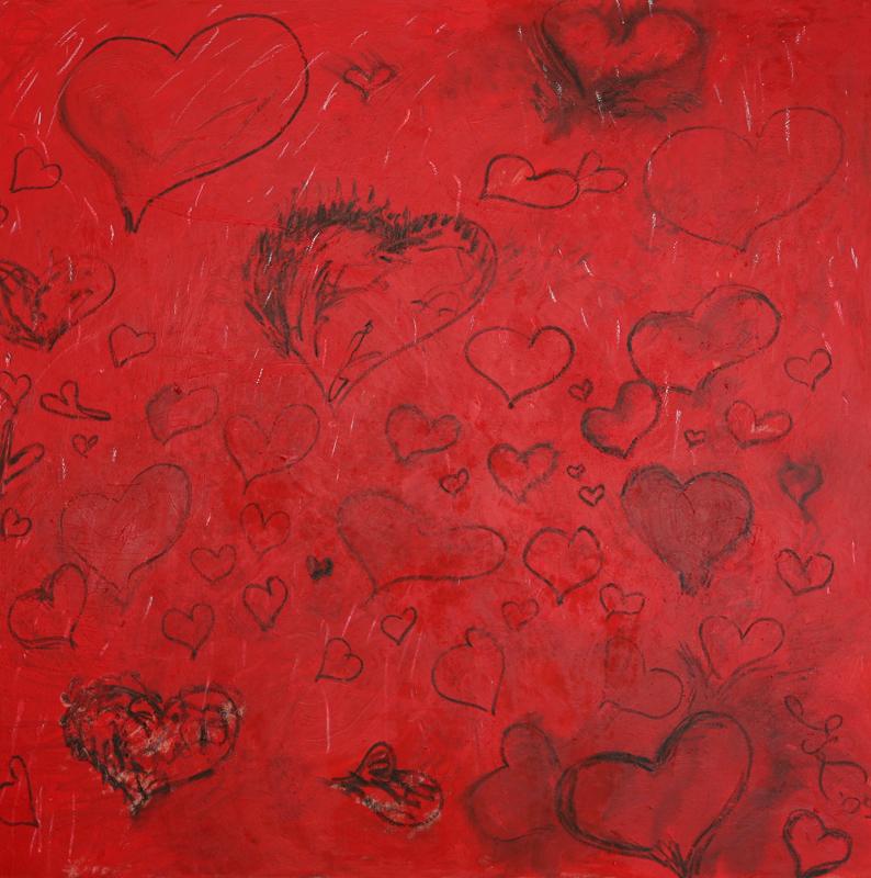 New Love, 2009, oil on linen 170 cm x 170 cm