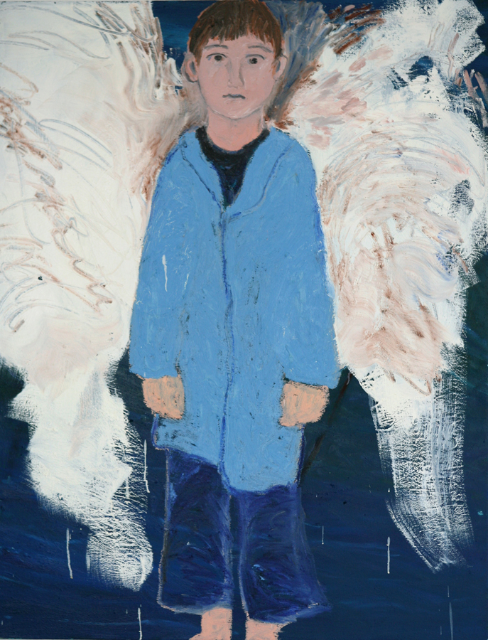 Blue Boy with Wings, 1994 - 2005, oil on canvas