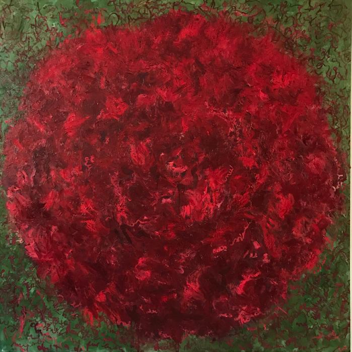 Peony, 2017, oil on linen, 170 cm x 170 cm