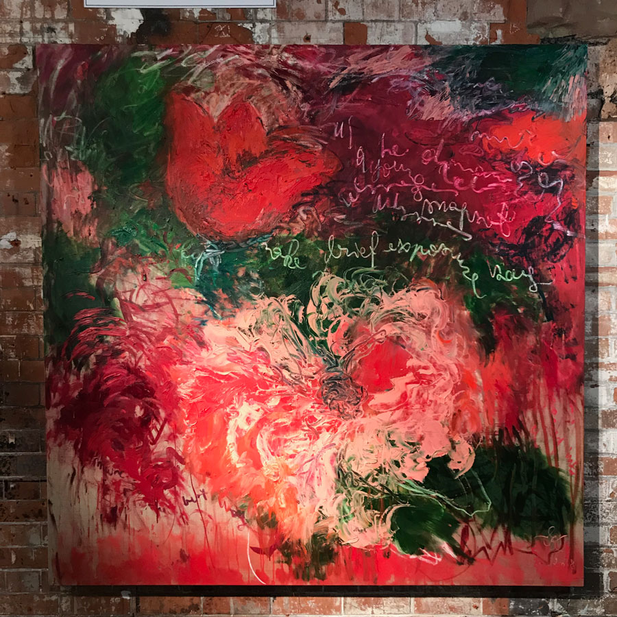 A Brief Exposure , 2018, oil on Linen, 170 cm x 170 cm