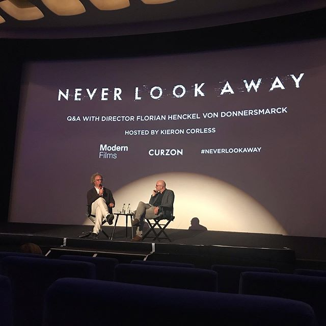 "I loved ""Never Look Away"" the new film by Florian Henkel von Donnersmarck, inspired by the life of the painter Gerhard Richter  Here he is at @curzoncinemas in Mayfair after the presentation of his film. It was fascinating to hear him at the end when he took questions from the audience. Beautifully crafted, the film works on many levels. I was so immersed that I hardly realised 3 hours had passed. #florianhenckelvondonnersmarck #florianhenckelvondonnersmarck londonscene #london #londoncinema #contemporaryart #Dresden #Dusseldorf"