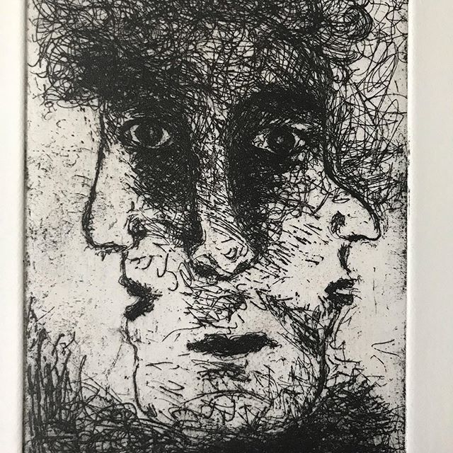 A personal allegory (of prudence.) My second #etching (the first one I've done 40 years ago at dawsoncollege in #Montreal #contemporaryart #artcurator #watercolour #artcollector #artistsoninstagram #contemporaryartcurators #contemplate