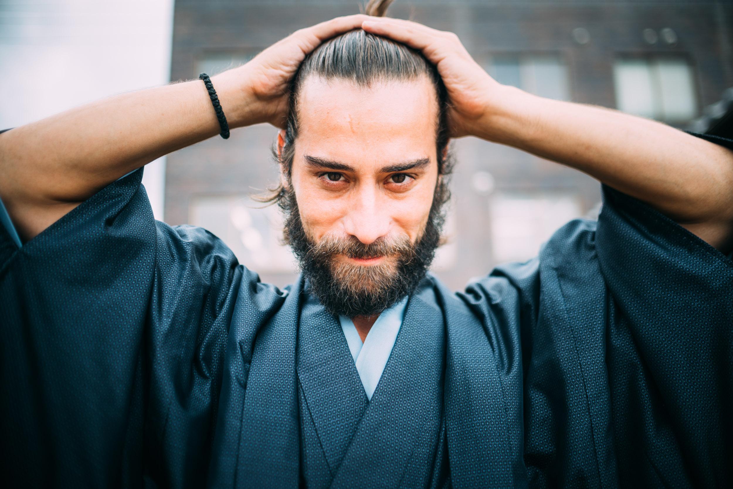 Who's looking like a samurai 😉