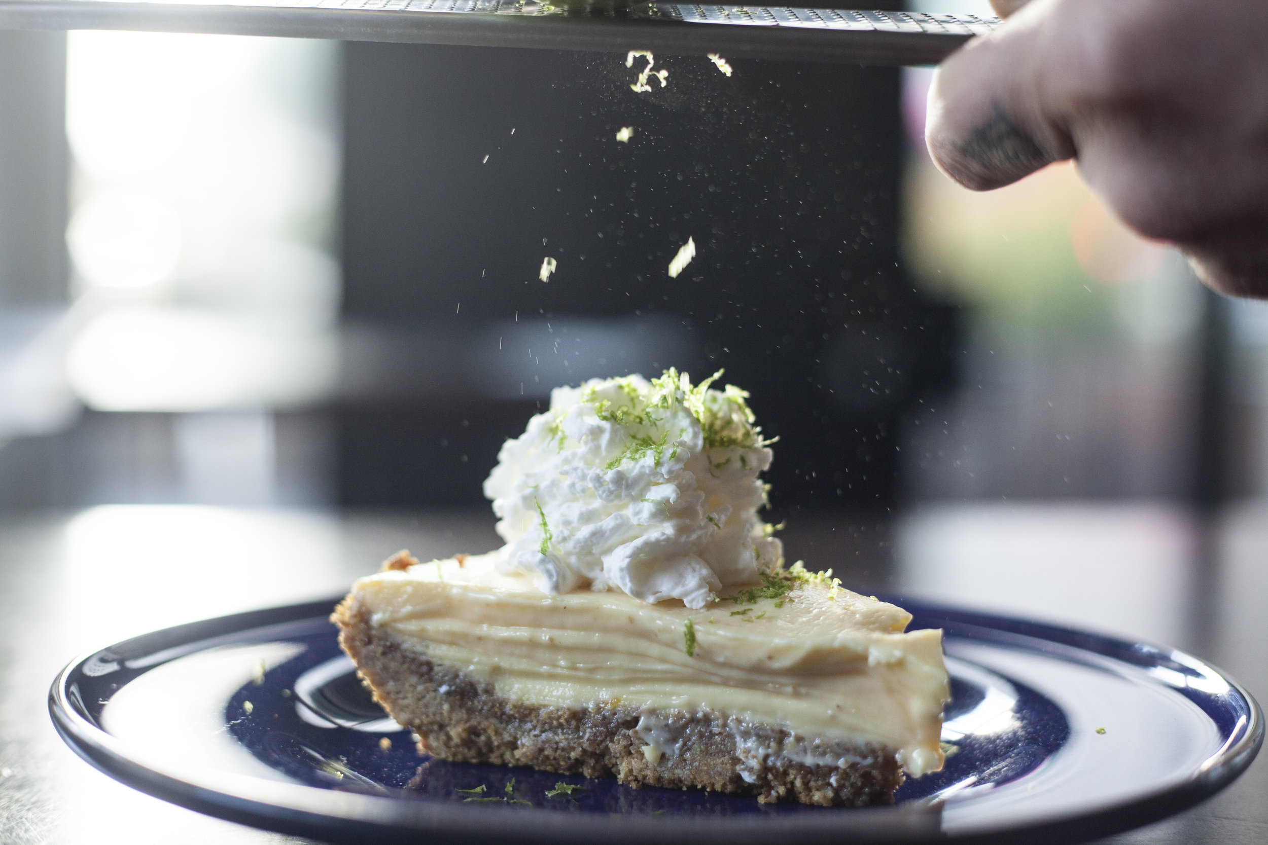 KASSADY'S MAMA'S KEY LIME PIE - secret recipe, served with whipped cream (contains nuts, limited availability)