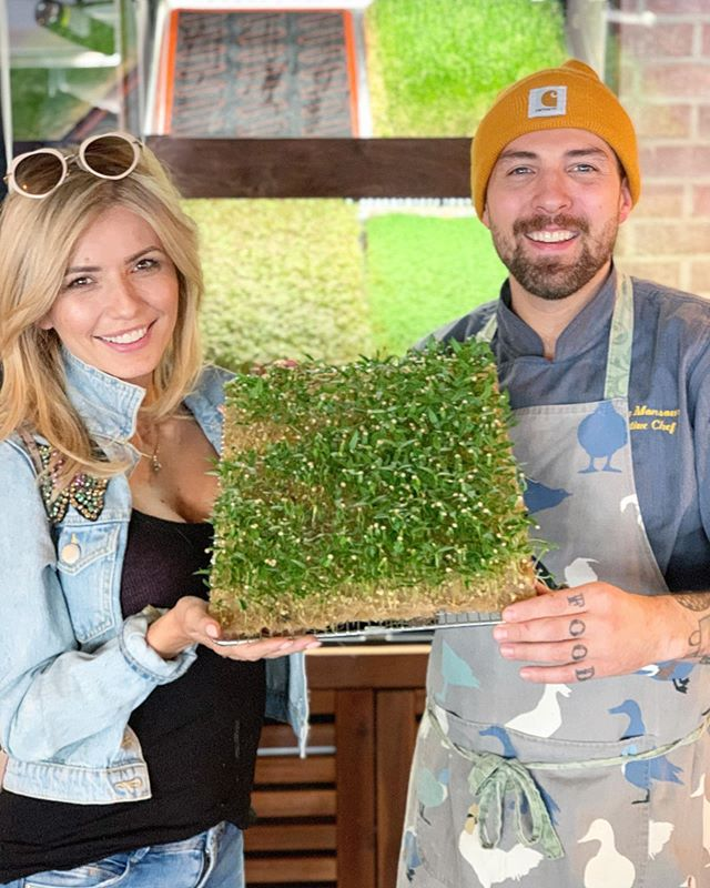 Absolutely FUCKING JAZZED to be working with @inhouseproduce to GROW our own micro greens! Shout outs to @stephaniquah  @thediningdolls for coming through with the hookup and always showing us love 🌱💚🌍💙🌿