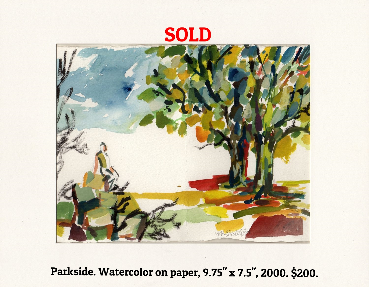 Fred Wise Parkside Watercolor on Paper 9.75 in x 7.5 in 2012.jpg