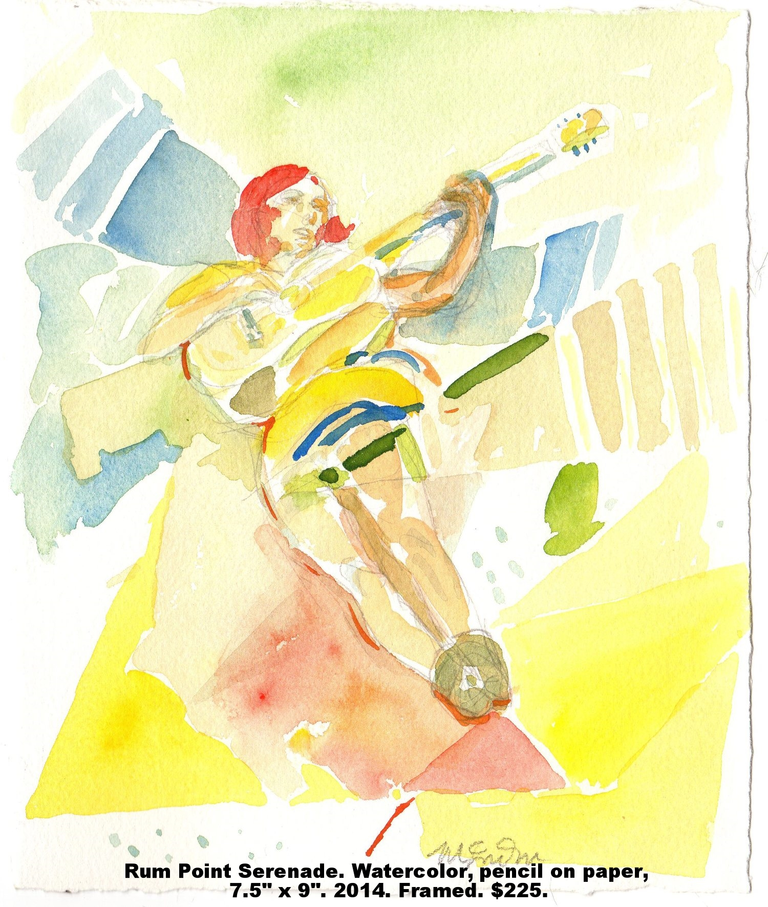 9 Fred Wise Rum Point Serenade Watercolor and pencil on paper 7.5 in x 9 in. 2014.jpg