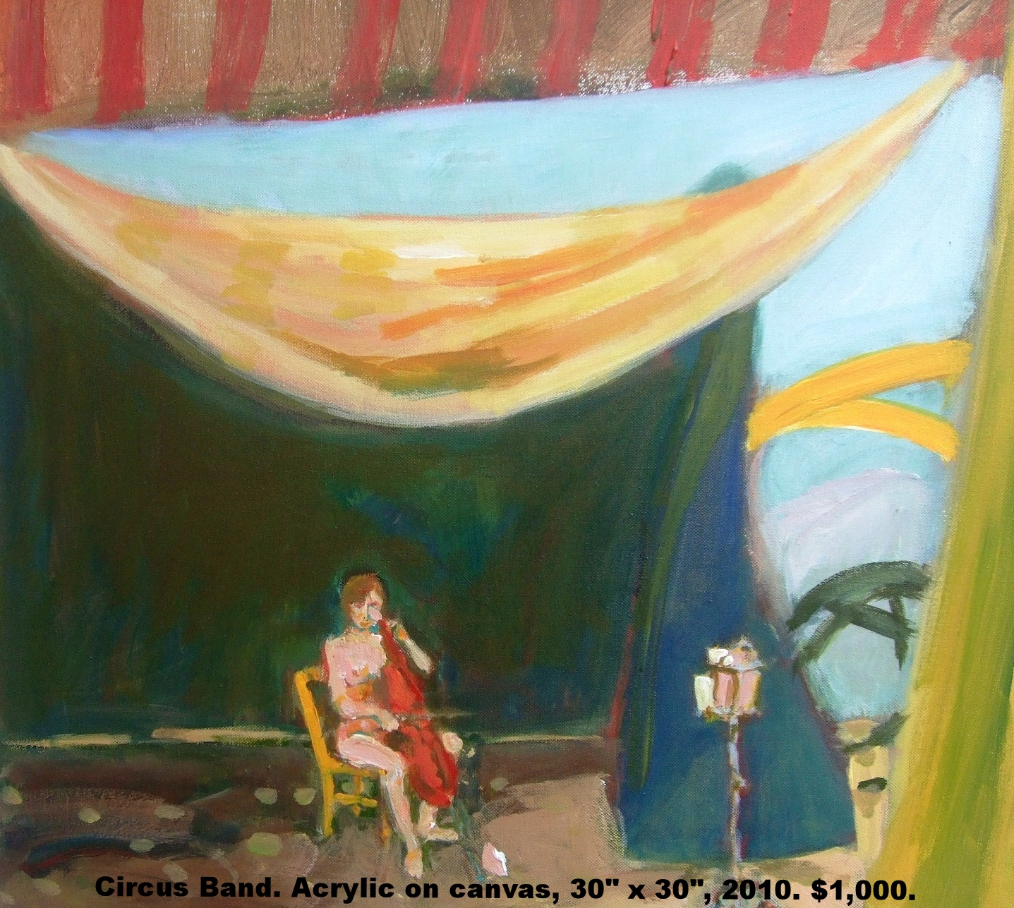 Fred Wise Circus Band, acrylic on canvas, 24 x 24, 2010, $1,000.jpg