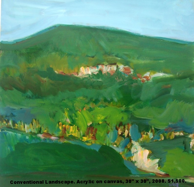 Fred Wise, Conventional Landscape, acrylic on canvas, 30 x 30, 2008, $1,500.jpg