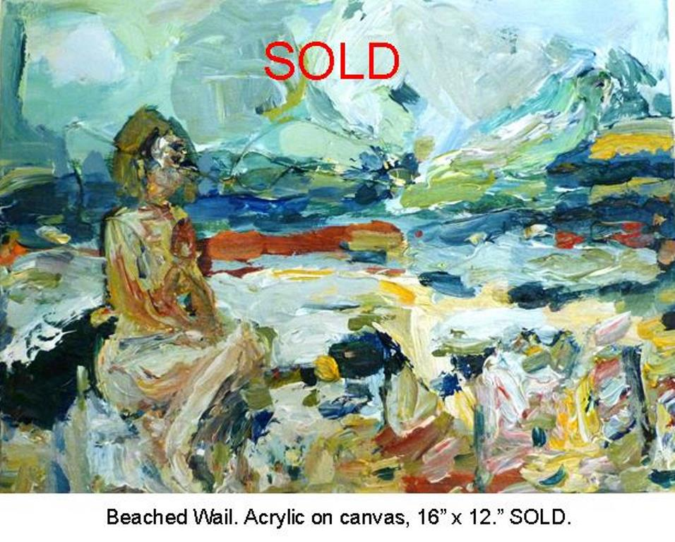 Fred Wise, Beached Wail. Acrylic on canvas 16 x 12, 2015.jpg
