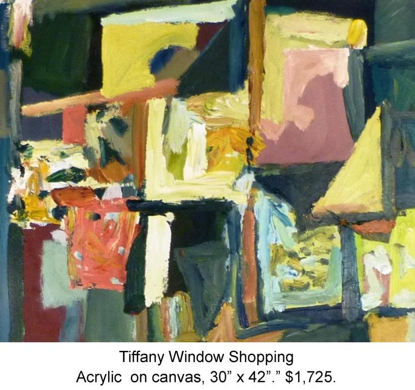 Fred Wise, Tiffany Window Shopping Acrylic on Canvas 30 in x 24 in 2014.jpg