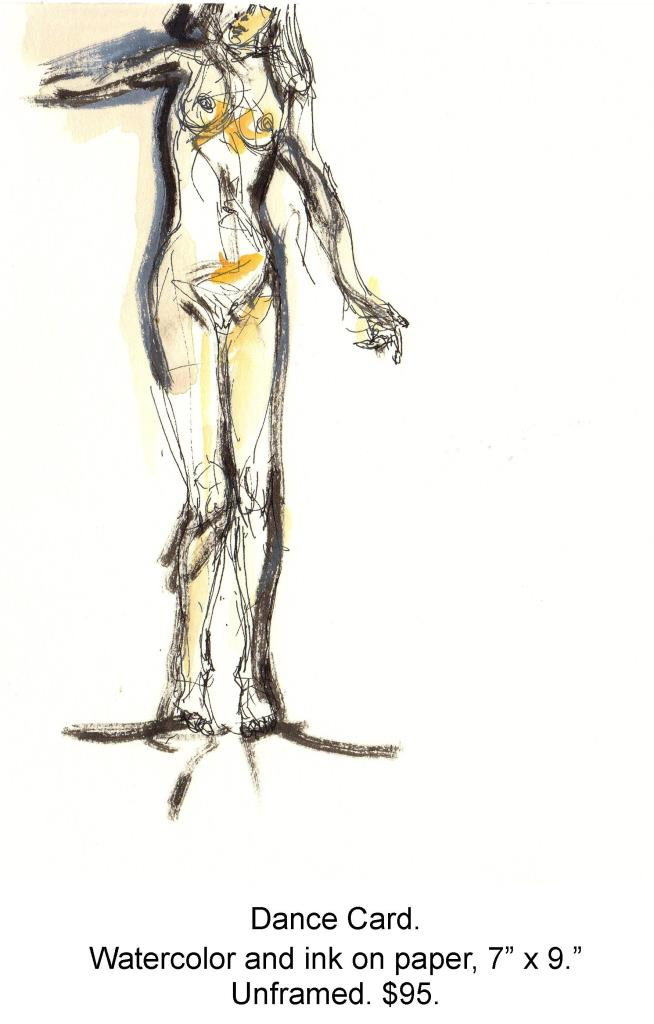 Fred Wise, Dance Card. Watercolor, ink on paper, 7 x 9, 1999.jpg