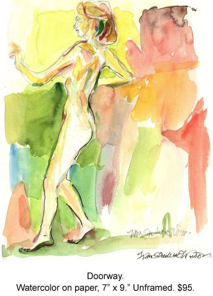 Fred Wise, Doorway. Watercolor, ink, pencil on paper, 7 x 9, 1998.jpg