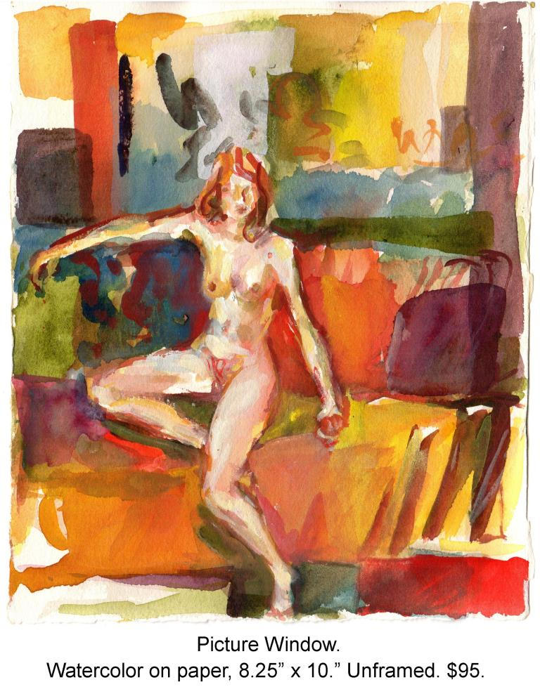 Fred Wise, Picture Window. Watercolor on paper, 8.25 x 10, 2004.jpg