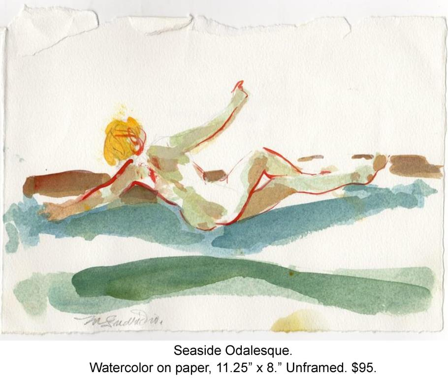 Fred Wise, Seaside Odalesque. Watercolor and pencil on paper, 11.25 x 8, 2012.jpg