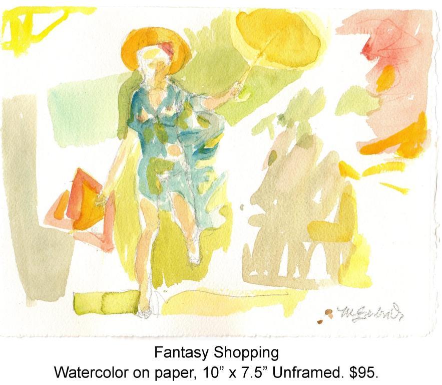 Fred Wise, Fantasy Shopping. Watecolor, pencil on paper, 10 x 7.5, portfolio, 2014.jpg