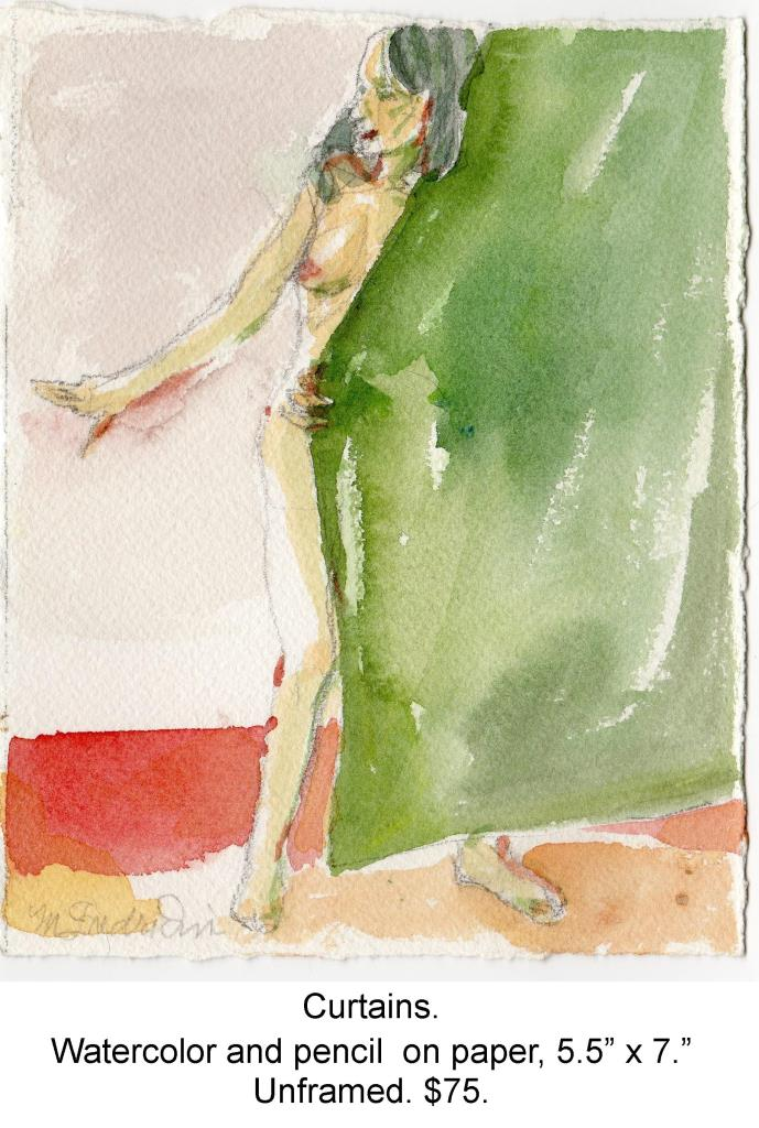 Fred Wise, Curtains. Watercolor, pencil on paper, 5.5 x 7, 2013, portfolio.jpg