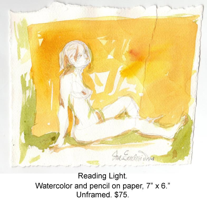 Fred Wise, Reading Light. Watercolor and pencil on paper, 7 x 6, 2015, wrapped.jpg