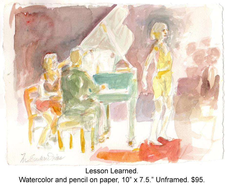Fred Wise, Lesson Learned. Watercolor and pencil on paper, 10 x 7.5, 2015. Web.jpg