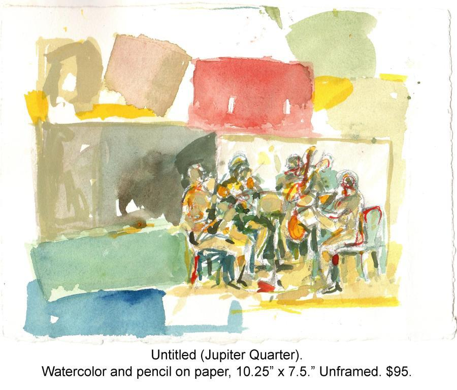 Fred Wise, Untitled, Jupiter Quartet. Watercolor and pencil on paper, 10.25 x 7.5. Web.jpg