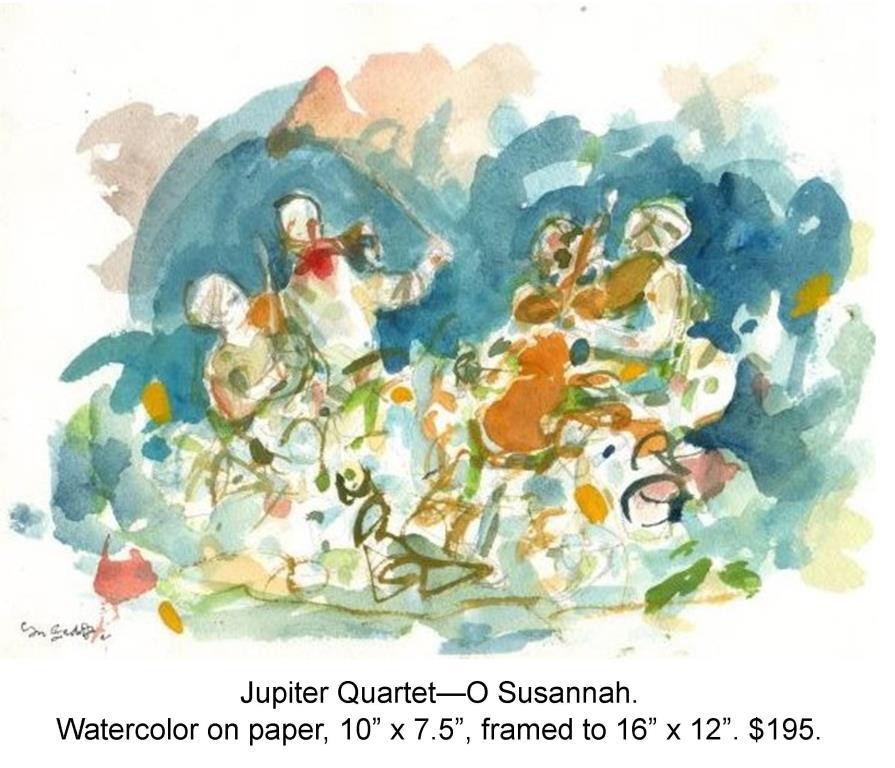 Fred Wise, Jupiter Quartet, O Susannah. Watercolor and pencil on paper, 10 x 7.5, 2012.jpg