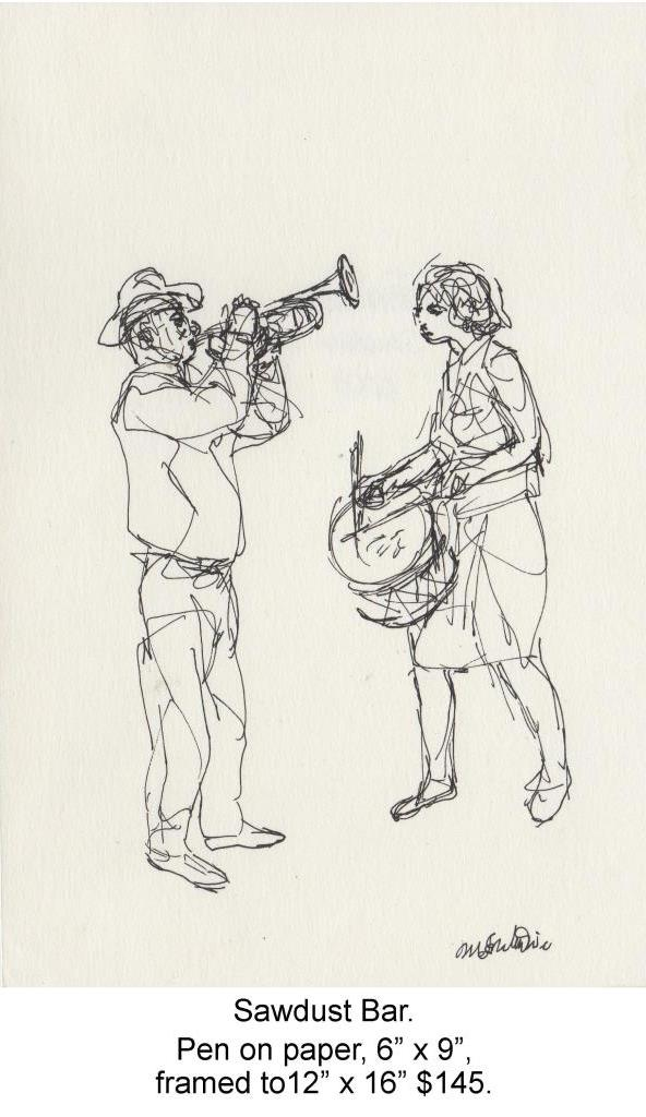 Fred Wise, Sawdust Bar. Pen on paper, 6 x 9, 2009.jpg