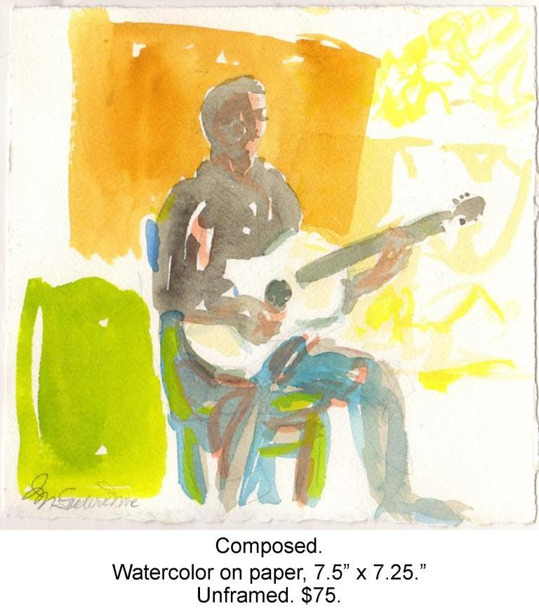 Fred Wise, Composed. Watercolor, pencil on paper, 7.5 x 7.25, 2013.jpg