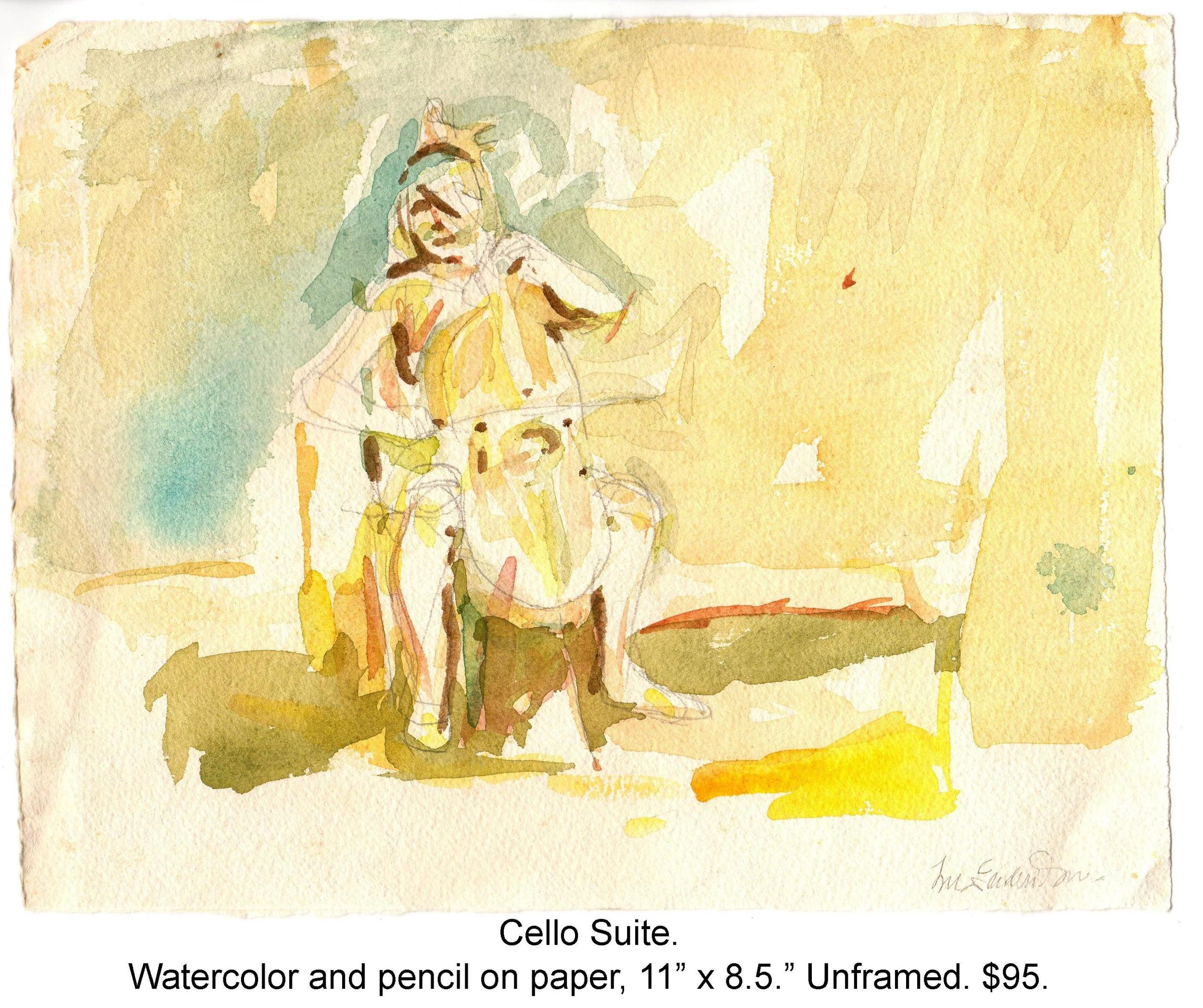 Fred Wise, Cello Suite. Watercolor, pencil on paper, 11 x 8.5, 2015.jpg