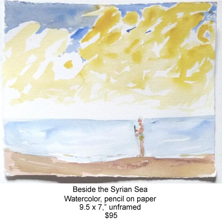 Fred Wise, Beside the Syrian Sea, watercolor and pencil on paper, 9.5 x 7.5, 2013, web.jpg
