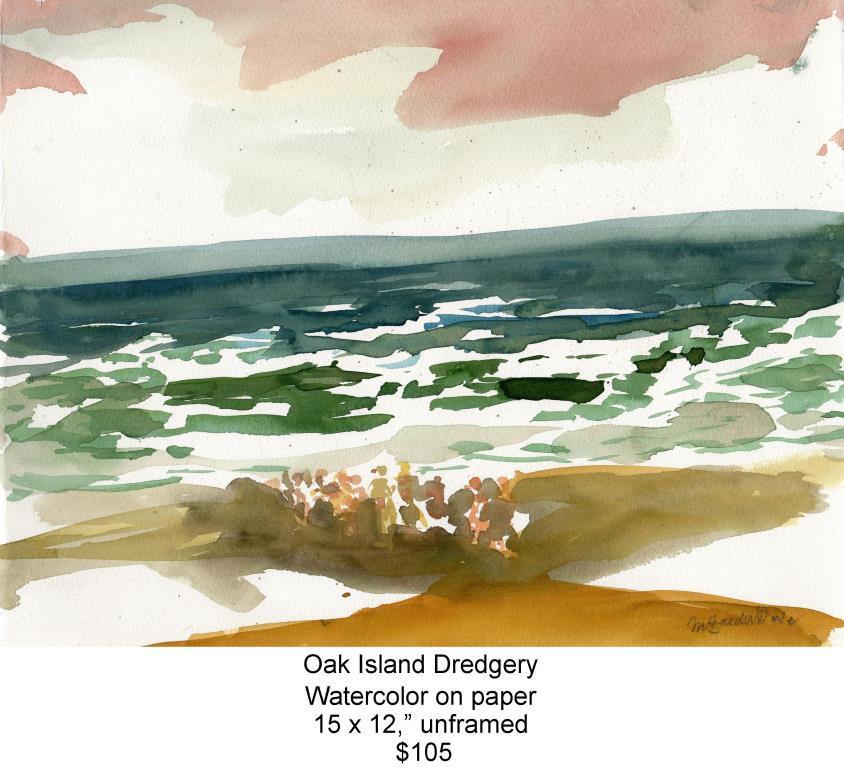 Fred Wise, Oak Island Dredgery. Watercolor, 15 x 12, 2009, web.jpg