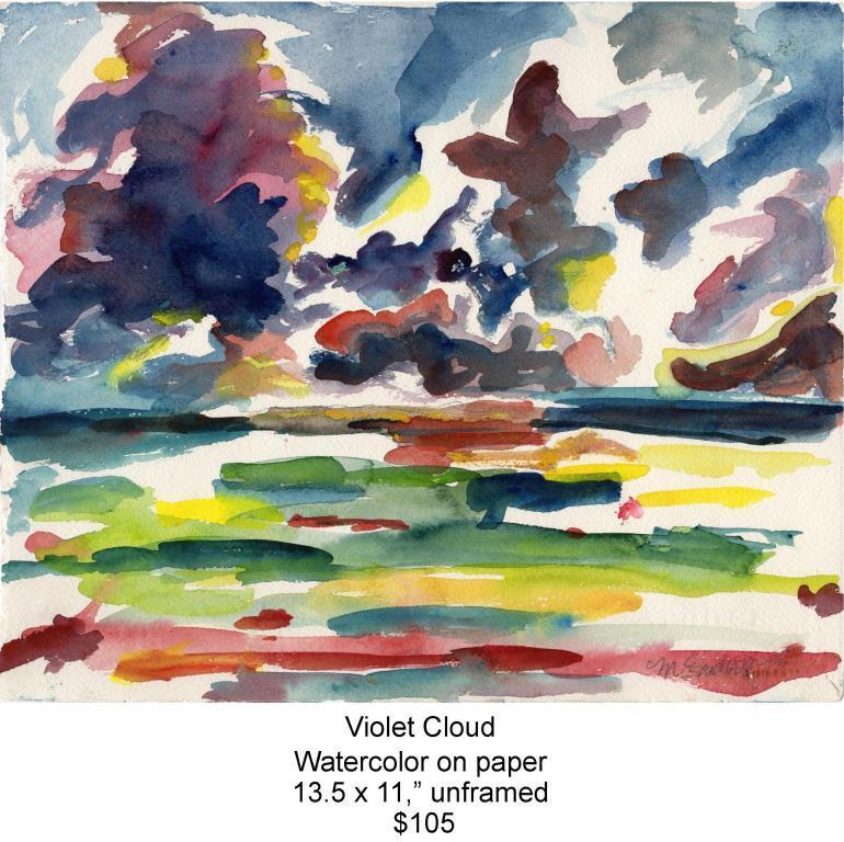 Fred Wise, Violet Cloud. Watercolor, 13.5 x 11, 2009, web.jpg