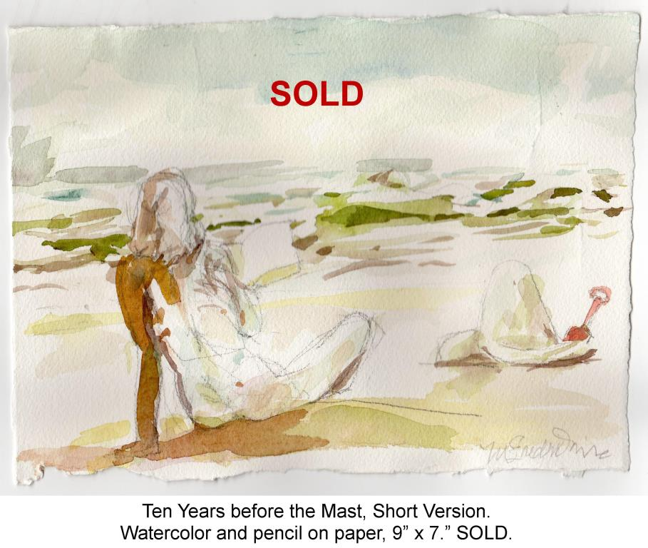 Fred Wise, Ten Years before the Mast, Short Version, Watercolor and pencil on paper, 2015.jpg