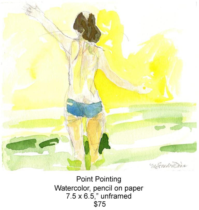 Fred Wise, Point Pointing. Watercolor, pencil, 7.5 x 6.5, 2012, web.jpg