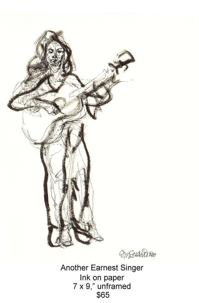 Fred Wise, Another Earnest Singer. Ink, 7 x 9, 1998, web.jpg