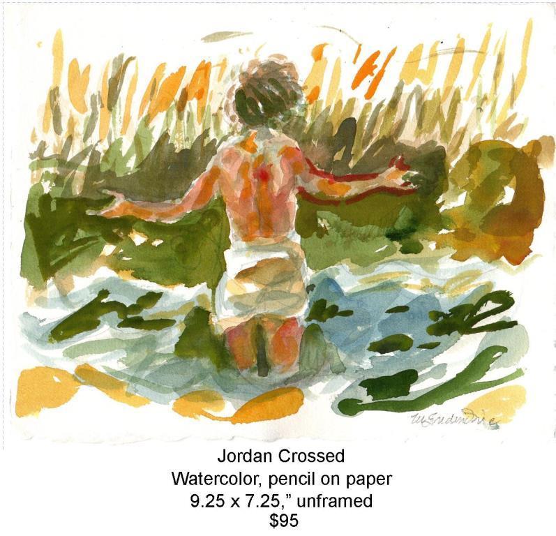 Fred Wise, Jordan Crossed. Watercolor, pencil, 9.25 x 7.25, 2012, web.jpg