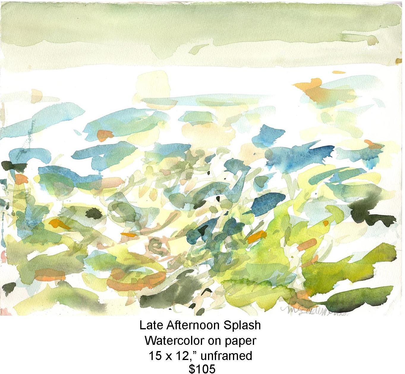 Fred Wise, Late Afternoon Splash. Watercolor, 15 x 12, 2015, web.jpg