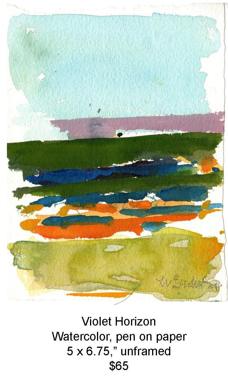 Fred Wise, Violet Horizon. Watercolor, 5 x 6.75, 2012, web.jpg