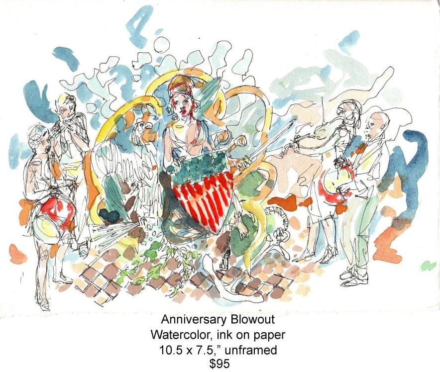 Fred Wise, Anniversary Blowout. Watercolor,ink, 10.5 x 7.5, 2012, web.jpg