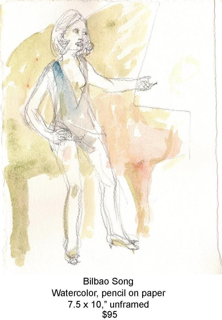 Fred Wise, Bilbao Song. Watercolor, pencil, 7.5 x 10, 2014, web.jpg