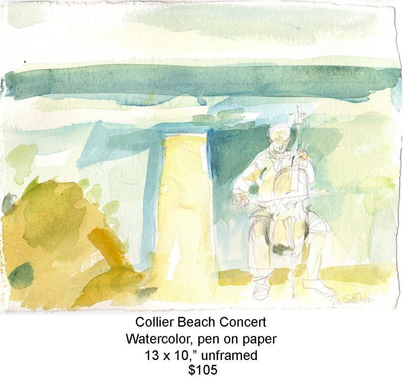 Fred Wise, Collier Beach Concert. Watercolor, pencil, 13 x 10, 2016, web.jpg