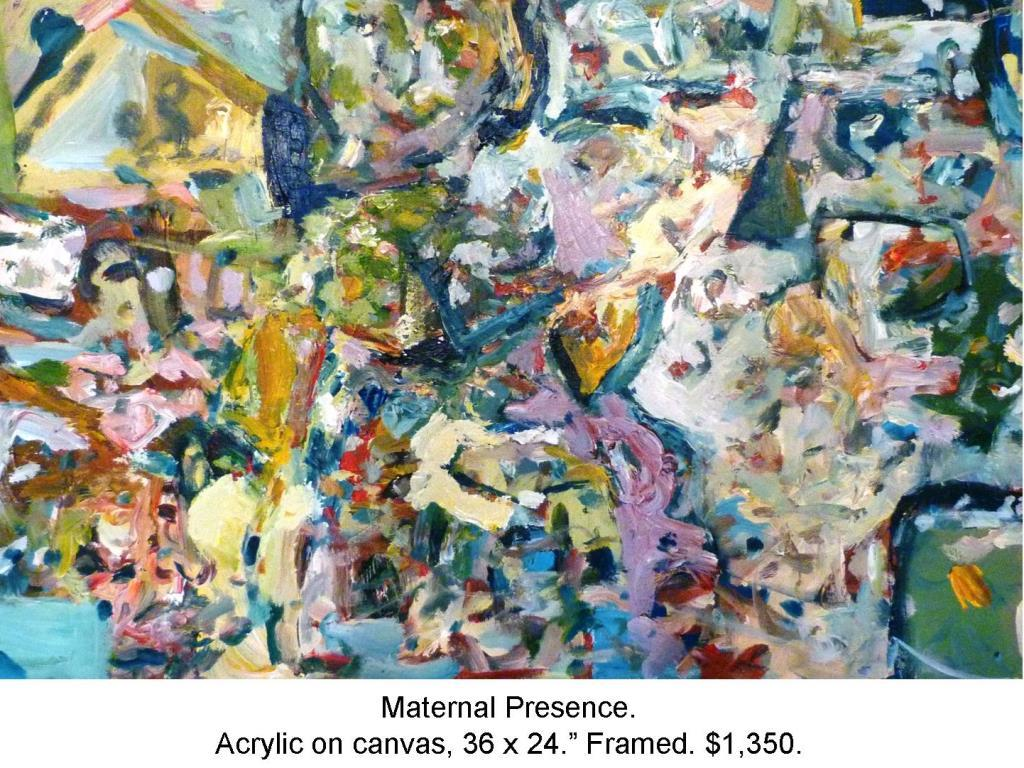 Fred Wise, Maternal Presence. Acrylic on canvas, 36 x 24, 2014 2016 04 09.jpg