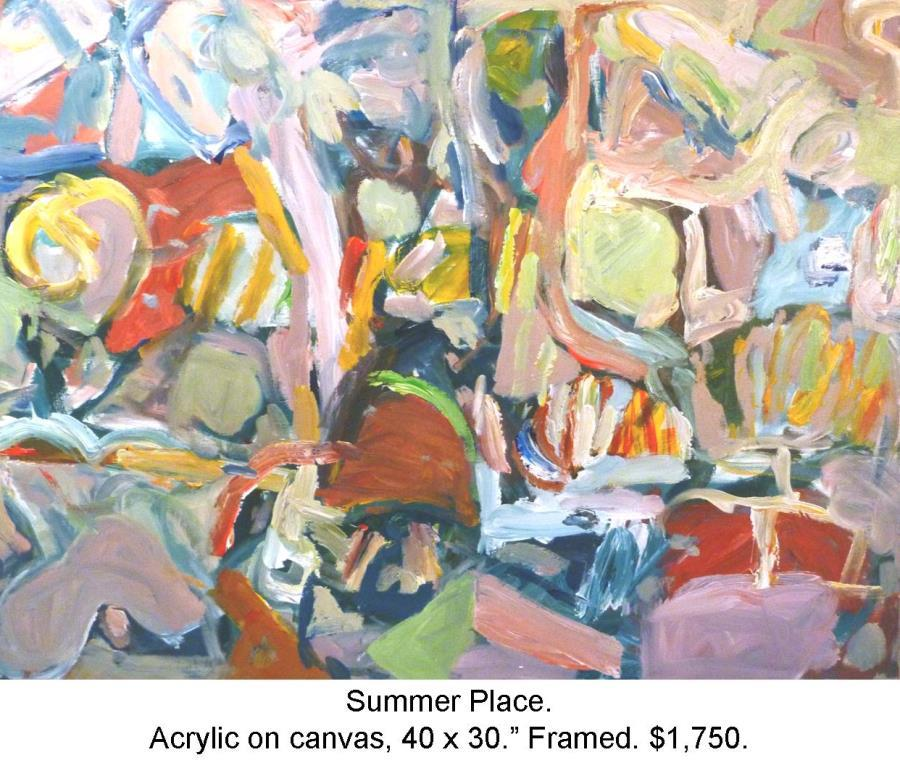 Fred Wise, Summer Place Acrylic on Canvas 40 in x 30 in. 2014, 2016 04 19.jpg