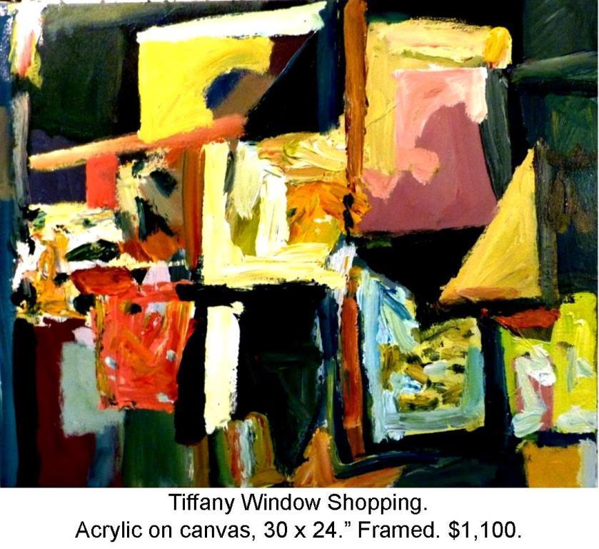 Fred Wise, Tiffany Window Shopping. Acrylic on canvas, 30 x 24, 2014 2016 04 19.jpg